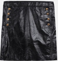 Givenchy★VINTAGE LEATHER MINISKIRT WITH 4G BUTTONS