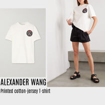 {ALEXANDER WANG} Printed cotton-jersey T-shirt 送料関税込