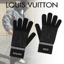 "LOUIS VUITTON ""The My Monogram Eclipse"" Gloves★ウール 手袋"