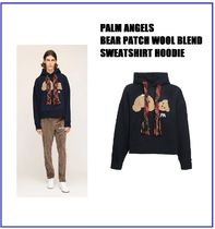 [PALM ANGELS] BEAR PATCH WOOL BLEND HOODIE (送料関税込み)