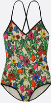 Gucci★FLORA POP PRINTED TECHNICAL JERSEY ONE-PIECE SWIMSUIT