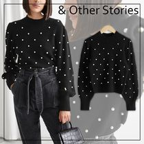 【& Other Stories】Pearl Dot Puff Sleeve セーター