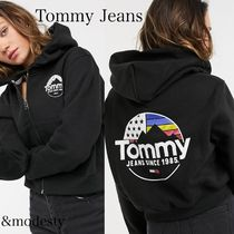 【Tommy Jeans】バックロゴ ジップアップ パーカー フーディー