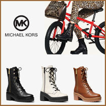 Michael Kors☆Anaka Leather Combat Boot ブーツ☆送料込