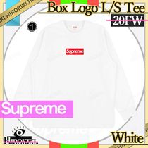 20FW /Supreme Box Logo L/S Tee Top White ホワイト