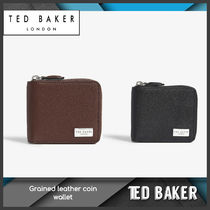 [Ted Baker] Grained leather coin wallet 送料関税込