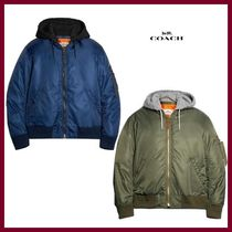 【COACH】Nylon Hooded Ma-1 Jacket フード付きジャケット☆