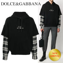 DOLCE&GABBANA Hoodie with print and patch