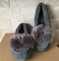 UGG☆ファー付き☆Ansley Puff Bow Charcoal