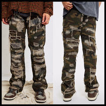 【JADED LONDON】CAMO EXTREME RIPPED STACKED FIT 迷彩ジーンズ