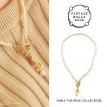 VINTAGE HOLLYWOOD★Hold the Ring Pearl Necklace/追跡送