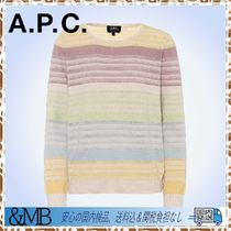 A.P.C.★新着★Wave striped cotton-blend sweater