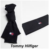 Tommy Jeans ロゴ マフラー ブラック