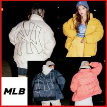 ◆MLB Korea◆Mega logo short duck down 4Color◆日本未入荷◆