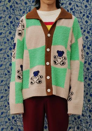 YOUTHBATH カーディガン ●YOUTHBATH● 20F/W  BEAR CHECK CARDIGAN 2色(11)