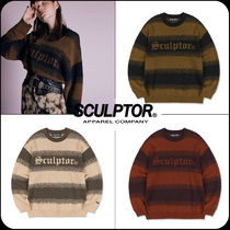 [ SCULPTOR]★韓国大人気★Pixel Logo Brush Sweater
