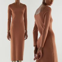"""""""COS"""" KNITTED OFF-SHOULDER TUBE DRESS TERRACOTTA"""