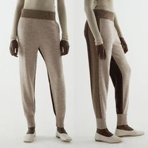 """""""COS"""" COLOUR-BLOCK WOOL JOGGERS BEIGE/BROWN"""