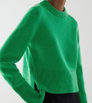 """""""COS"""" RECYCLED CASHMERE-WOOL MIX CROPPED JUMPER GREEN"""