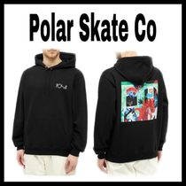 Polar Skate Co MOTH HOUSE ロゴ Blackフーディ/パーカー