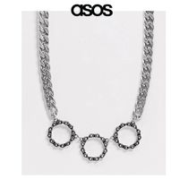 SALE【ASOS】3連リング チェーンネックレス