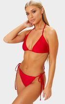 【PLT】RED MIX & MATCH ADJUSTABLE TIE SIDE BIKINI BOTTOM