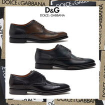 20AW【D&G直営店】ブローグダービーシューズ giotto paint