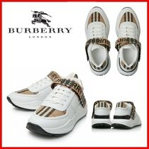 ◆BURBERRY◆MULTICOLOR LEATHER AND FABRIC SNEAKERS◆正規品◆