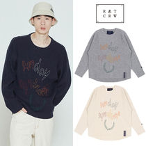 ★ROMANTICCROWN★新作 SUNDAY SYNDROME SCRIBBLE LOGO KNITWEAR