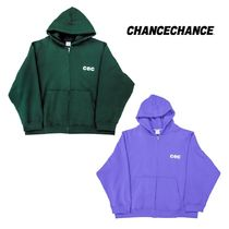 【CHANCECHANCE】CEC HOOD ZIPUP ジップアップ Green/Purple
