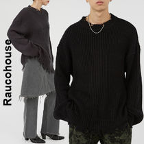 Raucohouse(ラウコハウス)★Damage Ribbed Knit 2色