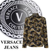 【VERSACE JEANS】☆全体にプリント*長袖*ロゴ*バロックシャツ☆