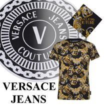 【VERSACE JEANS】☆バロック*半袖*綿*クルーネック*Tシャツ☆