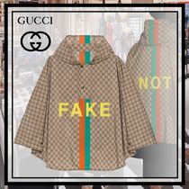 20AW新作 GUCCI Fake/Not モノグラム ケープ ナイロン
