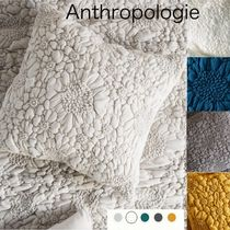 Anthropologie Textured Piazza Euro Sham ジャージークッション