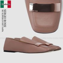 SERGIO ROSSI  SR1 SLIPPERS IN SOFT NAPPA