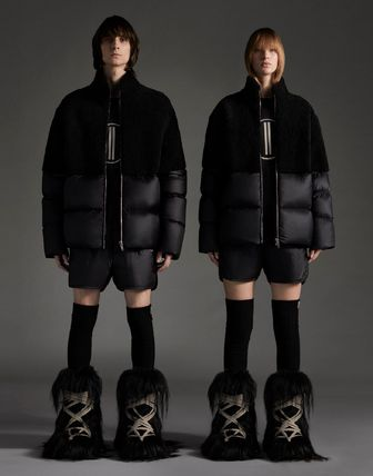 MONCLER Tシャツ・カットソー MONCLER×Rick Owens★男女兼用Tシャツ【黒】(2)