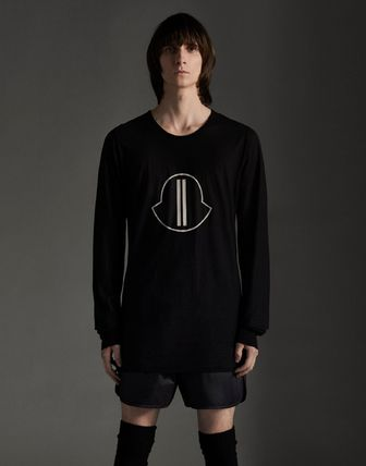 MONCLER Tシャツ・カットソー MONCLER×Rick Owens★男女兼用Tシャツ【黒】(3)