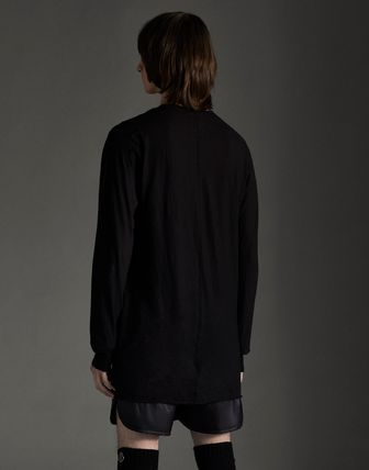 MONCLER Tシャツ・カットソー MONCLER×Rick Owens★男女兼用Tシャツ【黒】(4)
