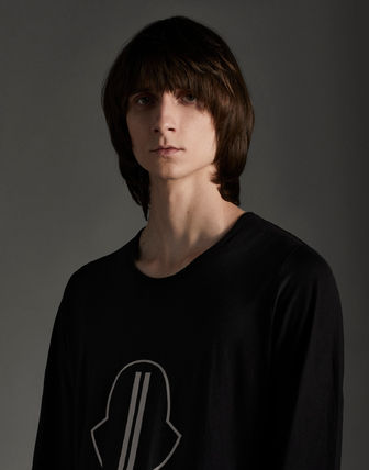 MONCLER Tシャツ・カットソー MONCLER×Rick Owens★男女兼用Tシャツ【黒】(5)