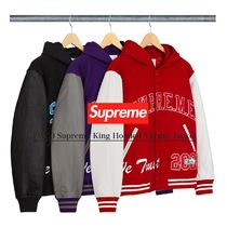 FW20 Supreme King Hooded Varsity Jacket ヴァシティジャケット