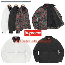 FW20 Supreme Leather Collar Work Jacket - ワーク ジャケット