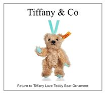 【Tiffany】Return to Tiffany Love Teddy Bear Ornament☆