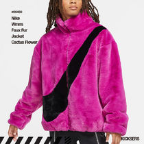 人気話題!Nike Wmns Faux Fur Jacket Cactus Flower