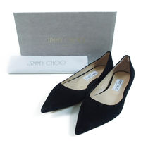 Jimmy Choo::LOVE FLAT バレエシューズ:38.5[RESALE]