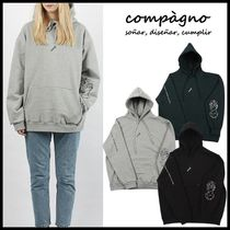 ★COMPAGNO★SPACE TATTO HOOD Heavy overfit★人気★