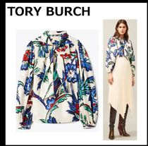 【TORY BURCH】PRINTED SILK BOW BLOUSE 花柄 シルクブラウス