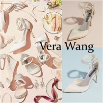 【Vera Wang】Satin D'Orsay Ankle-Wrap Stiletto Heels ヒール