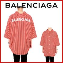 ◆BALENCIAGA◆20FW Red White Short Swing Shirt◆正規品◆