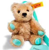 Return to Tiffany Love Teddy Bear Ornament in mohair  8 cm